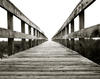 Boardwalk- Early morning fog - Giclee