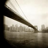 Brooklyn Bridge, Late Afternoon fog - Giclee
